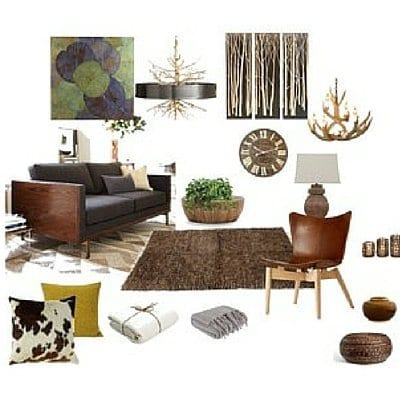 Mood board for a client\'s living room