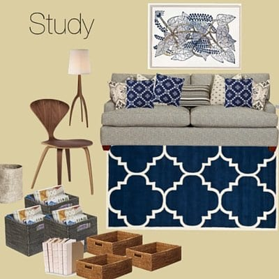 Mood board for a client\'s study
