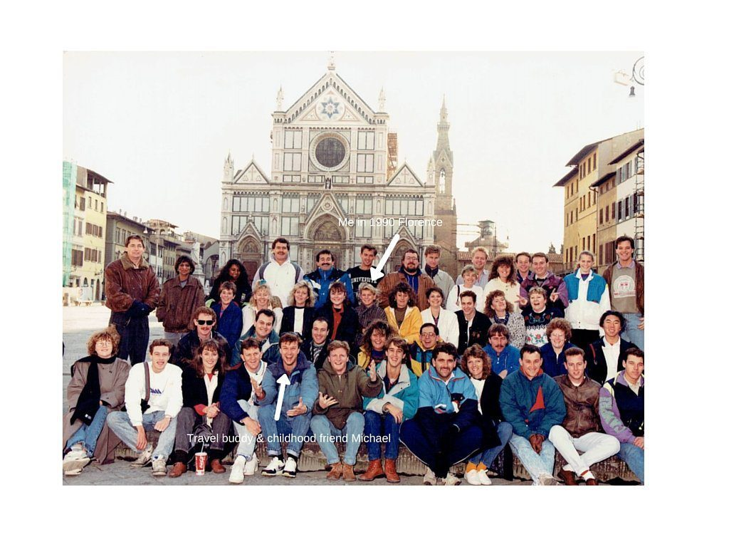 Me in 1990 Florence