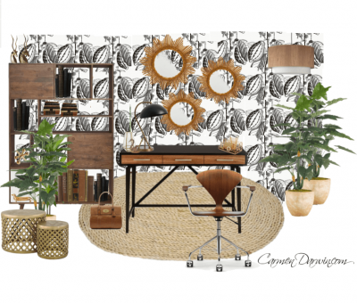 Wallpapered Office Carmen Darwin