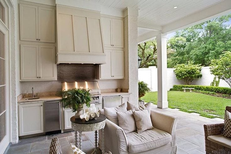 traditional outdoor area neutral colours