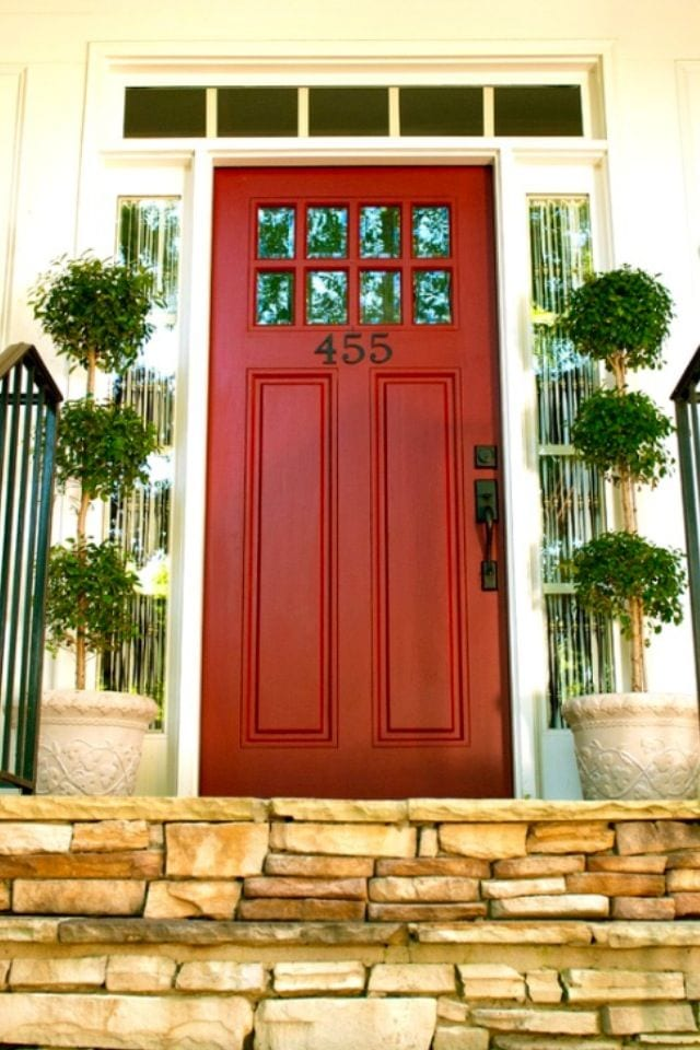 Red Front Door Colours