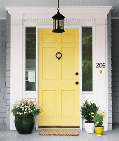 yellow Front Door Colours