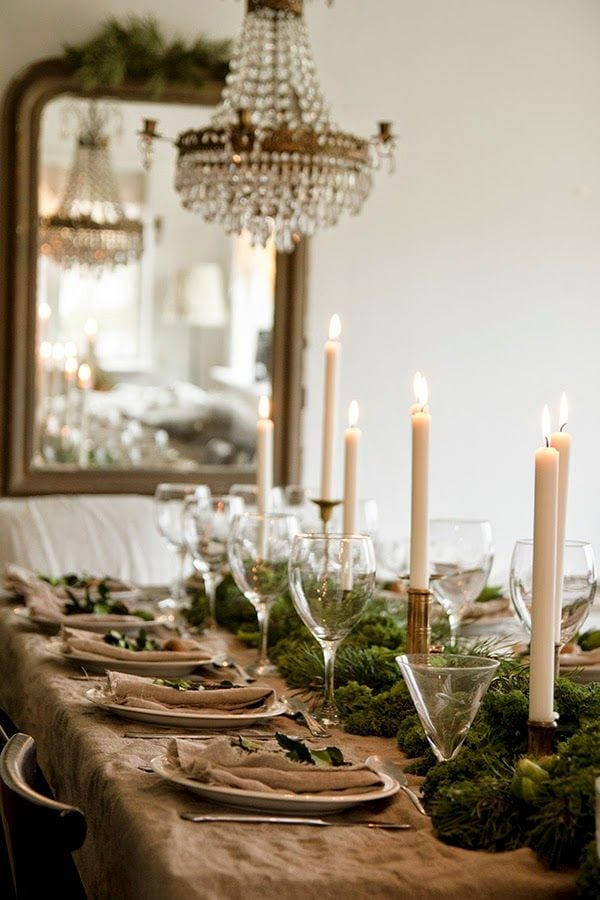 Christmas stylish table setting