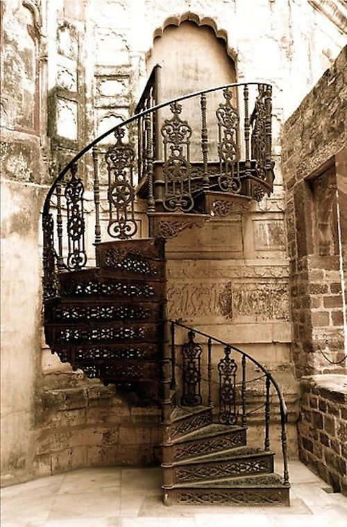 Spiral stairs in Italy