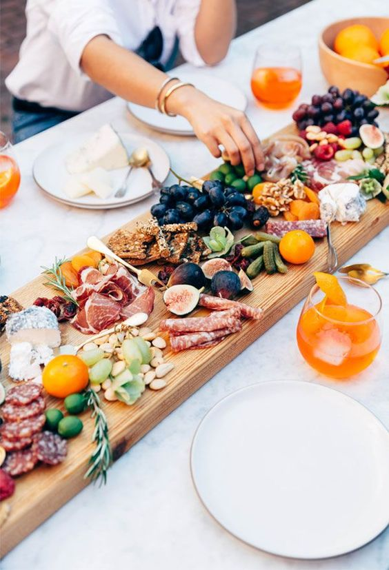 charcuterie board italian dinner party