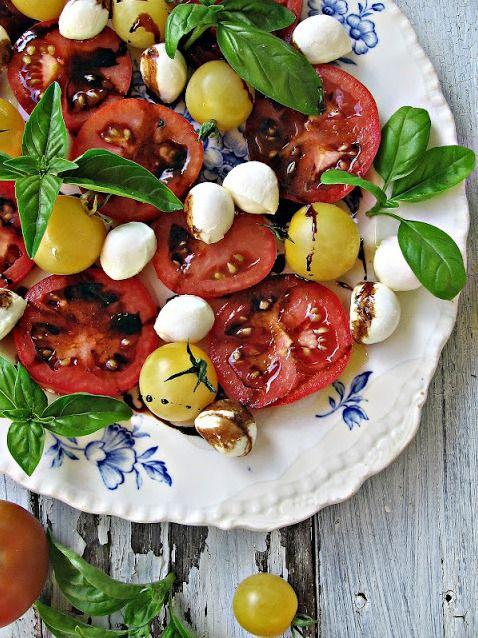 caprese salad italian dinner party
